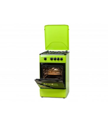 Aragaz LDK 5060 GREEN LPG, 4 arzatoare, 50 cm, Verde