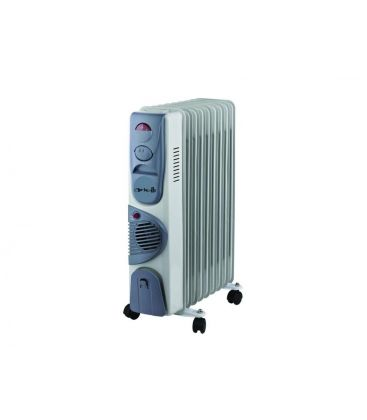 Calorifer Arielli SNYT RFT11, Putere 2.900 W, 11 elementi, Termostat, Ventilator, Alb