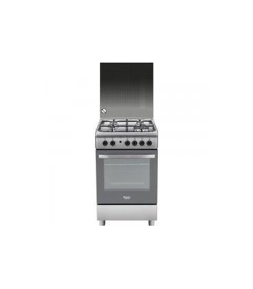 Aragaz HOTPOINT ARISTON H5TGC1G X FR CATALITIC, 50 x 60 x 85, timer, grill