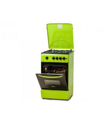 Aragaz LDK 5060 A GREEN NG, 4 arzatoare, Aprindere electrica, 50x60 cm, Verde