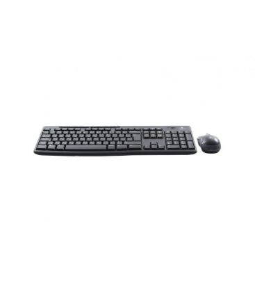 Kit Wireless Logitech MK270, Tastatura, Mouse, Taste multimedia, Negru
