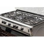 Aragaz LDK 6090 GRAI IX LPG, Aprindere electrica, Grill, Rotisor, Gratare plita de fonta, 90x60 cm, Inox