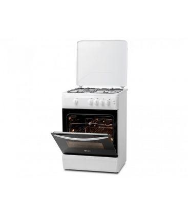 Aragaz LDK 6060 GRAI WH NG, Aprindere electrica, Grill, Rotisor, Iluminare,  60x60 cm, 3 ani garantie, Alb