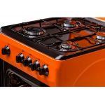 Aragaz LDK 5060 Orange NG, 4 arzatoare, Capac metalic, 50x60 cm, Portocaliu