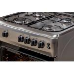 Aragaz LDK 6060 GRAI IX NG, Aprindere electrica, Grill, Rotisor, Iluminare, 60x60 cm, 3 ani garantie, Inox