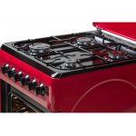 Aragaz LDK 5060 ECAI RED NG, Aprindere Electrica, Cuptor Electric, Iluminare, 3 ani garantie, Rosu