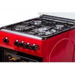 Aragaz LDK 5060 GRAI RED NG, Aprindere electrica, Grill, Rotisor, Iluminare, 3 ani garantie, Rosu
