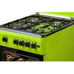 Aragaz LDK 5060 A GREEN LPG, 4 arzatoare, Capac metalic, Aprindere electrica, Siguranta cuptor, 50x60 cm, 3 ani garantie, Verde