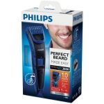 Masina de tuns facial PHILIPS QT 4002/15, 1 - 10 mm, 10 Trepte, Acumulatori, Negru/Albastru