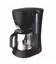 Cafetiera Rohnson R924, Putere 680 W, Vas de sticla 1.2L, Negru