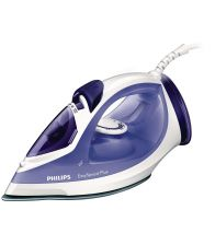 Fier de calcat PHILIPS EASYSPEED PLUS GC2048, Talpa ceramica, 2300 W, 0.27 l, 120 g/min, Alb/Mov