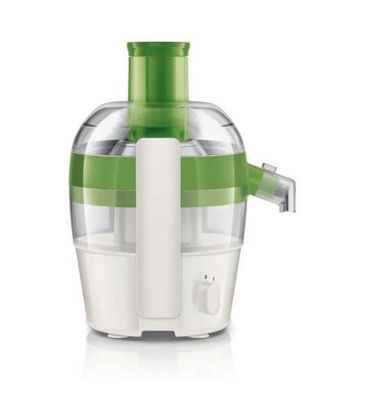 Storcator de fructe si legume PHILIPS Viva Collection HR1832/52, 500 W, Recipient suc 0.5 l, alb/Verde