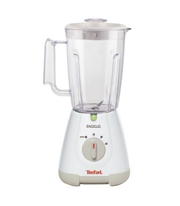 Blender TEFAL BlendForce Faciclic Plastic BL300138, 400 W, 1.25 l, 2 viteze, Alb