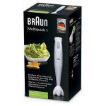 Mixer vertical BRAUN Multiquick MQ100, 450 W, 0.6 l, 1 Viteza, Alb/Verde