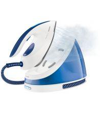Statie de calcat Philips PerfectCare Viva GC7015/20, Talpa SteamGlide, 2400 W, 1.7 l, 170 g/min, 1.6 m/1.8m, Alb/Albastru