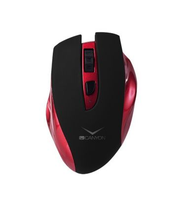 Mouse wireless CANYON CNS-CMSW7R,  Reincarcabil, Rosu