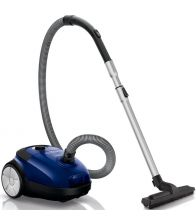Aspirator cu sac Philips Performer Active FC 8520/09, 4 l, Tub telescopic metalic, 750 W, EPA 10, Albastru