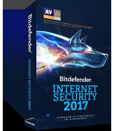 Licenta BITDEFENDER Internet Security 2017, 1 an, 1 utilizator