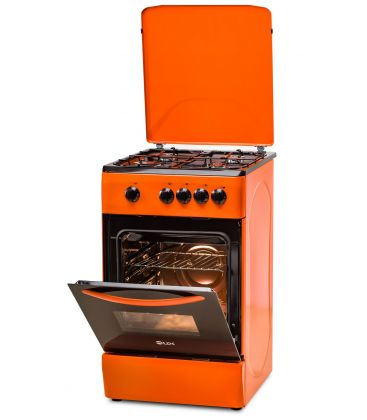 Aragaz LDK 5060 Orange LPG, 4 arzatoare, Capac metalic, 50x60 cm, 3 ani garantie, Portocaliu, Preinstalare duze NG/LPG