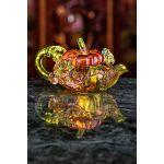 Ceainic decorativ cristal Pumpkin