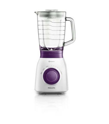 Blender PHILIPS Daily Collection HR2173/00, 600 W, 1.5 l, Variospeed, Functie impuls, Alb