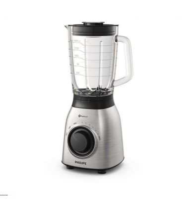 Blender Philips Viva Collection HR3555, 700 W, tehnologie ProBlend 6, vas sticla 2l, Viteza Variabila + Puls, Otel Inoxidabil