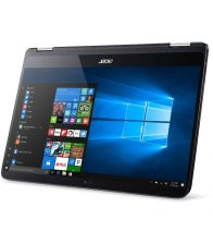 """DESIGILAT Laptop ACER Spin SP714, Intel I7-7Y75 1.30GHz, 14"""" FHD, 8GB, 256GB SSD, Microsoft Windows 10 Pro, Negru"""