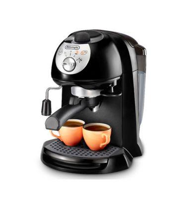 Espressor manual DeLonghi EC201.CD, Cappuccino System, 15 Bar, 1 l, Oprire automata, Negru