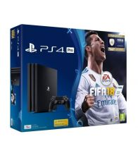 Consola PlayStation 4 Pro 1TB Black + FIFA 18 + Abonament PlayStation Plus 14 Zile