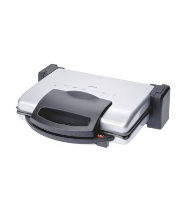 Gratar electric Bosch TFB3302V, 1800 W, termostat reglabil, placi antiaderente si detasabile, Aluminiu/Antracit