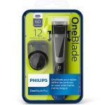 Aparat de barbierit si tuns barba Philips OneBlade Pro QP6510/20, Negru + 2 rezerve OneBlade QP220/55