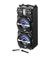 Boxa activa fixa AKAI DJ-T5, Putere 300 W, Dual USB, Card SD, Bluetooth, Microfon wireless si telecomanda, Negru