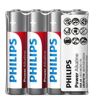 Baterii Philips Power Alkaline AAA 4-foil