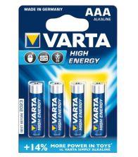 Baterii Alcaline R3/AAA blister/4 buc VARTA High Energy