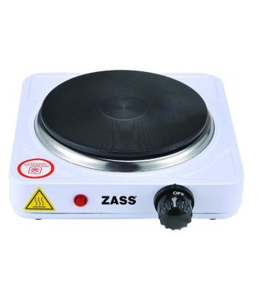Plita electrica Zass ZHP 04A, 1000W, 1 ochi, Temperatura 400 grade, Alb