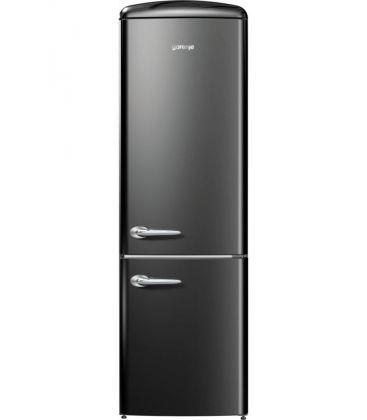 Combina frigorifica Gorenje Old Time ORK192BK, Clasa A++, Capacitate 326 l, FrostLess, 194 cm, Negru