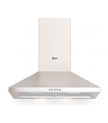 Hota LDK E60 ME IX CH, Putere absorbtie 400 mc/h, Filtru aluminiu, Argintiu