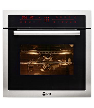 Cuptor incorporabil LDK 65BK/IX 90T3, Clasa A, Capacitate 65 l, Afisaj LED, Control Touch, Negru