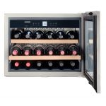 Vitrina de vinuri incorporabila Liebherr WKEes 553, Clasa A, Capacitate 48 l, 18 sticle, Inox