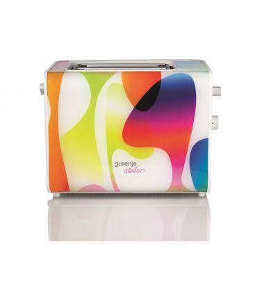 Prajtor de paine Gorenje T900KARIM design Karim Rashid, 730W, 6 nivele de incalzire, indicator luminos, Multicolor