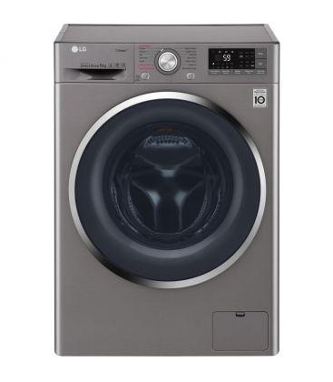 Masina de spalat LG F4J7VY2S, Clasa A+++, Capacitate 9 kg, Direct Drive, SpaSteam, Turbowash, Wireless, Argintiu