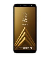 Telefon mobil Samsung Galaxy A6 (2018), Ecran 18.5:9, Octa Core, 32GB, 3GB RAM, Single SIM, NFC, Senzor amprenta, Auriu