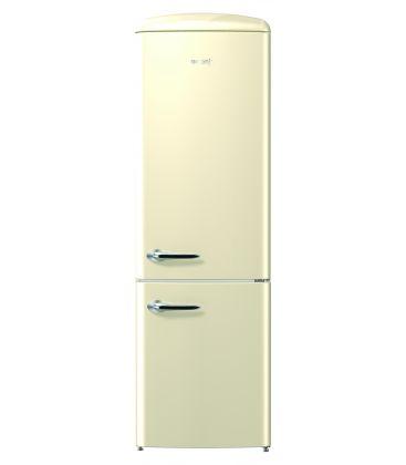 Combina frigorifica Gorenje Old Time ORK192C, Clasa A++, Capacitate 326 l, FrostLess, 194 cm, Cappuccino
