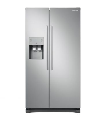 Frigider Side by Side Samsung RS50N3513SA, Clasa A+, Capacitate 501 l, Full No Frost, Inverter, H 178cm, Metal Graphite