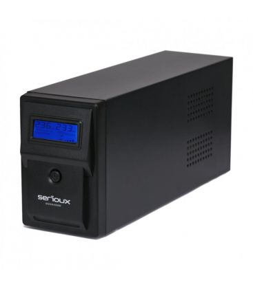 UPS Serioux SRXU-800LI, 800VA, Line Interactive, 2 porturi Schuko, Negru