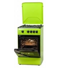 Aragaz LDK 5060 Green NG, Gaz, 4 Arzatoare, Siguranta, Capac metalic, 50x60 cm, Verde