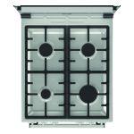 Aragaz Gorenje GI5321XF, 4 arzatoare, Aprindere electrica, Grill, Gratar fonta, Display, Inox