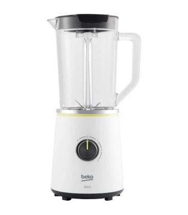Blender Beko Foodster TBN7602W, Putere 600 W, Capacitate 1.75 l, Vas sticla, Alb