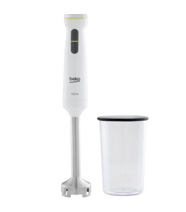 Mixer vertical Beko Foodster HBS7600W, Putere 600 W, Pahar 1 l, Turbo, Maner ergonomic, Alb