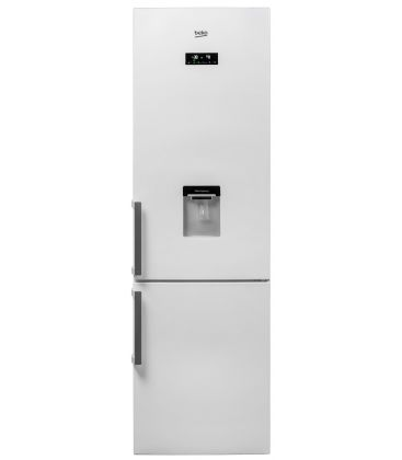 Combina frigorifica BEKO RCNA400E21DZW, Clasa A+, Capacitate 344 l, , H 201 cm, Display, Dozator apa, Alb
